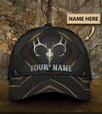 Custom Skull Deer Hunter Carbon Classic Cap Personalized Name / DVHPQH220221