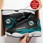 Miami Dolphins Personalized AJD13 Sneakers 1095