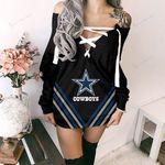 Dallas Cowboys Lace-Up Sweatshirt 82
