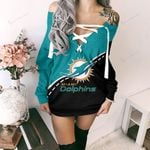 Miami Dolphins Lace-Up Sweatshirt 80