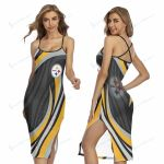 Pittsburgh Steelers Women's Back Cross Cami Dress 07