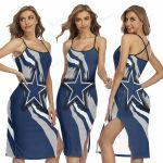 Dallas Cowboys Women's Back Cross Cami Dress 22