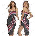 Atlanta Falcons Women's Back Cross Cami Dress 24