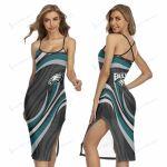 Philadelphia Eagles Women's Back Cross Cami Dress 14