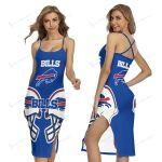 Buffalo Bills Women's Back Cross Cami Dress 04