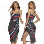 New England Patriots Women's Back Cross Cami Dress 31