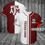 Texas A&M Aggies Personalized Baseball Jersey Shirt 197