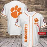 Clemson Tigers Personalized  Baseball Jersey 334