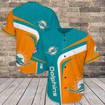 Miami Dolphins Baseball Jersey Shirt 424