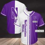 Northwestern Wildcats Personalized Baseball Jersey 350