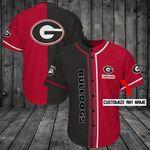 Georgia Bulldogs Personalized Baseball Jersey Shirt 168