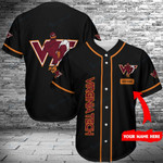 Virginia Tech Hokies Personalized Baseball Jersey 372