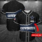 Dallas Cowboys Personalized Baseball Jersey Shirt 138