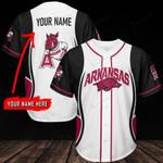 Arkansas Razorbacks Personalized Baseball Jersey 304