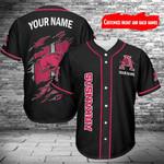 Arkansas Razorbacks Personalized Baseball Jersey 405