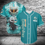 Miami Dolphins Personalized Baseball Jersey 490