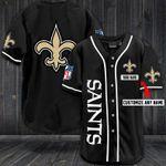 New Orleans Saints Personalized Baseball Jersey Shirt 33
