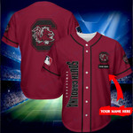 South Carolina Gamecocks Personalized Baseball Jersey Shirt 162