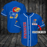 Kansas Jayhawks Personalized Baseball Jersey Shirt 79