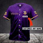 Minnesota Vikings Personalized Baseball Jersey Shirt 70