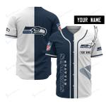 Seattle Seahawks Personalized Baseball Jersey 526