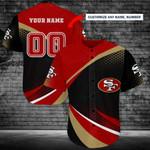 San Francisco 49ers Personalized Baseball Jersey Shirt 188