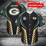 Green Bay Packers Personalized Baseball Jersey 472