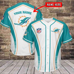 Miami Dolphins Personalized Baseball Jersey 457