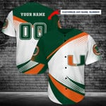 Miami Hurricanes Personalized Baseball Jersey Shirt 184