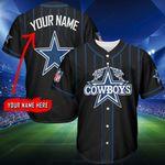 Dallas Cowboys Personalized Baseball Jersey Shirt 133