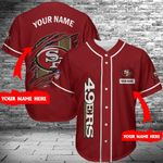 San Francisco 49ers Personalized Baseball Jersey 324