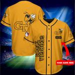 Georgia Tech Yellow Jackets Personalized Baseball Jersey Shirt 161