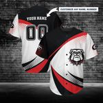 Georgia Bulldogs Personalized Baseball Jersey 254