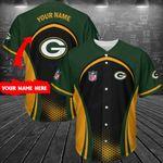 Green Bay Packers Personalized Baseball Jersey 288