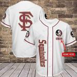 Florida State Seminoles Personalized Baseball Jersey 337