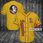 Florida State Seminoles Personalized Baseball Jersey Shirt 167
