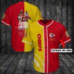 Kansas City Chiefs Personalized Baseball Jersey Shirt 135
