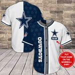 Dallas Cowboys Personalized Baseball Jersey Shirt 124