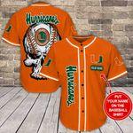 Miami Hurricanes Personalized Baseball Jersey Shirt 149