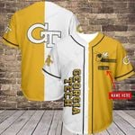 Georgia Tech Yellow Jackets Personalized Baseball Jersey Shirt 338