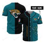 Jacksonville Jaguars Personalized Baseball Jersey 505