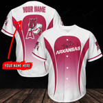 Arkansas Razorbacks Personalized Baseball Jersey 303