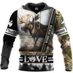 Moose Hunter Love Camo 3D