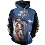 Love Horse Blue 3D
