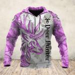 Tatoo Deer Purple White 3D