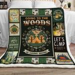 Camping Woods Fleece Blanket