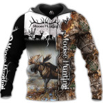 Moose Hunting Sleeve Black 3D