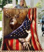Deer Hand Flag Blanket