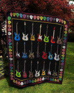 Guitar Quilt Blanket