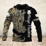 Boar Hunter Camo Black 3D